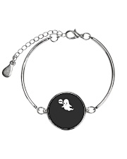 Cute Ghost Boo Funny Ghost Image Halloween Costume Metallic Circle Bracelet front
