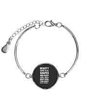 Funny Pizza  Beauty Comes In All Shapes And Sizes Metallic Circle Bracelet front