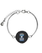 I am Proud Father Of Senior 2019 Funny Graduation Metallic Circle Bracelet thumbnail