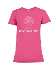 Crazy Plant Lady  Funny Planter Gardening Pun Premium Fit Ladies Tee thumbnail