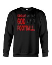 Sundays Are For God And Football Christian Gift Crewneck Sweatshirt thumbnail
