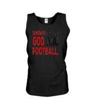 Sundays Are For God And Football Christian Gift Unisex Tank thumbnail