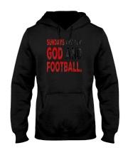 Sundays Are For God And Football Christian Gift Hooded Sweatshirt thumbnail