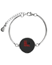 Sundays Are For God And Football Christian Gift Metallic Circle Bracelet front