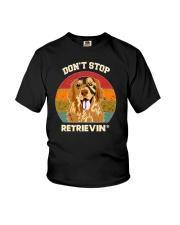 Vintage do not Stop Retrieving Golden Retriever Do Youth T-Shirt thumbnail