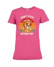 Vintage do not Stop Retrieving Golden Retriever Do Premium Fit Ladies Tee thumbnail