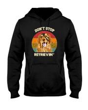Vintage do not Stop Retrieving Golden Retriever Do Hooded Sweatshirt thumbnail