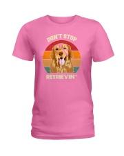 Vintage do not Stop Retrieving Golden Retriever Do Ladies T-Shirt thumbnail