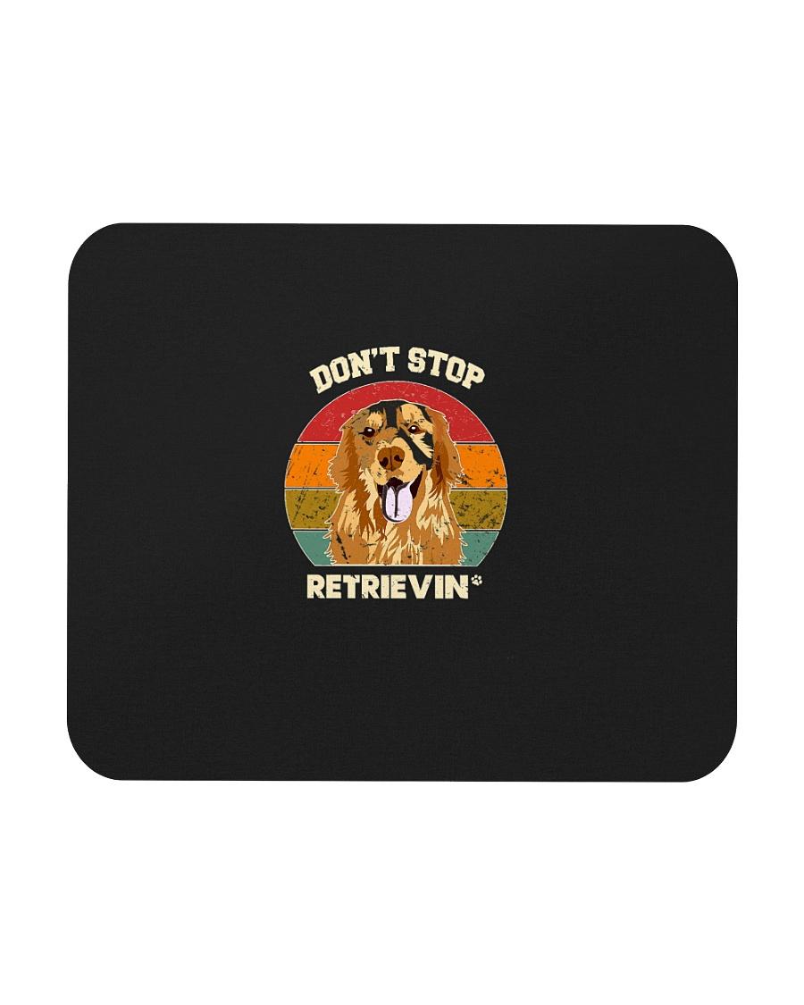 Vintage do not Stop Retrieving Golden Retriever Do Mousepad