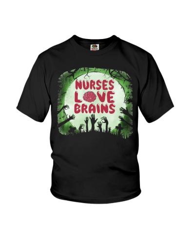 Nurses Love Brains Scary Halloween Zombie Lover