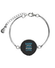 Daddy A Son is First Hero A Daughter is First Love Metallic Circle Bracelet thumbnail