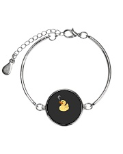 Fire Breathing Rubber Ducky  Funny Smoking Duck Metallic Circle Bracelet thumbnail