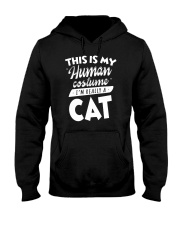 This Is My Human Costume I am Really A Cat Funny T Hooded Sweatshirt thumbnail