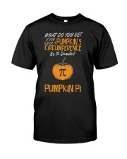 Funny Pumpkin Pi Pun 314 Math Geek Gag Gift Classic T-Shirt front