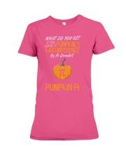 Funny Pumpkin Pi Pun 314 Math Geek Gag Gift Premium Fit Ladies Tee thumbnail