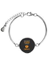 Funny Pumpkin Pi Pun 314 Math Geek Gag Gift Metallic Circle Bracelet thumbnail