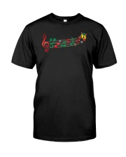 Funny Christmas Treble Clef Music Notes Jingle Bel Classic T-Shirt front