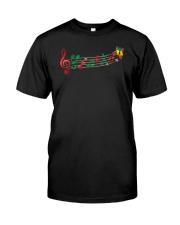 Funny Christmas Treble Clef Music Notes Jingle Bel Premium Fit Mens Tee thumbnail
