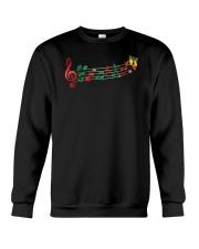 Funny Christmas Treble Clef Music Notes Jingle Bel Crewneck Sweatshirt thumbnail