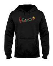 Funny Christmas Treble Clef Music Notes Jingle Bel Hooded Sweatshirt thumbnail
