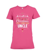 Christmas Is Better With Uncle Matching Family Gif Premium Fit Ladies Tee thumbnail