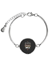Christmas Is Better With Uncle Matching Family Gif Metallic Circle Bracelet thumbnail