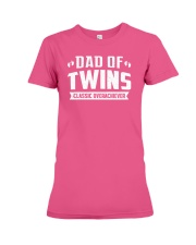 Dad Of Twins Classic Overachiever Expecting Daddy  Premium Fit Ladies Tee thumbnail