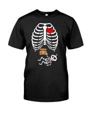 Funny Pirates Baby Skeleton Halloween Pregnancy Premium Fit Mens Tee thumbnail