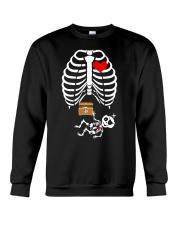 Funny Pirates Baby Skeleton Halloween Pregnancy Crewneck Sweatshirt thumbnail