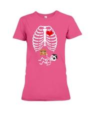 Funny Pirates Baby Skeleton Halloween Pregnancy Premium Fit Ladies Tee thumbnail