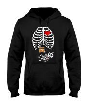 Funny Pirates Baby Skeleton Halloween Pregnancy Hooded Sweatshirt thumbnail
