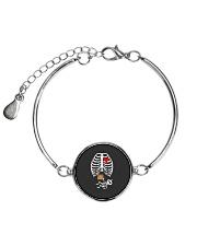 Funny Pirates Baby Skeleton Halloween Pregnancy Metallic Circle Bracelet thumbnail