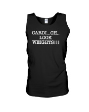 Cardi Oh Look Weights Funny Cardio Vs Weights Unisex Tank thumbnail