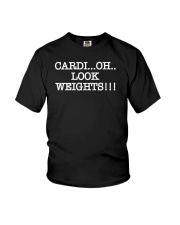 Cardi Oh Look Weights Funny Cardio Vs Weights Youth T-Shirt thumbnail
