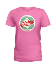 Ketchup Ironic Lazy Costume Halloween Funny Scary  Ladies T-Shirt thumbnail