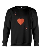 Ace Of Hearts Halloween Costume Love Lazy Sarcasti Crewneck Sweatshirt thumbnail