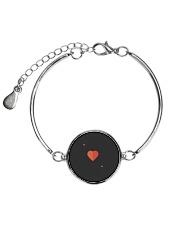 Ace Of Hearts Halloween Costume Love Lazy Sarcasti Metallic Circle Bracelet front