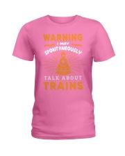Funny Train Conductor Train Gift Ladies T-Shirt thumbnail