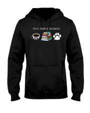 I Am A Simple Woman Coffee Books Dog Lover Girl Hooded Sweatshirt thumbnail