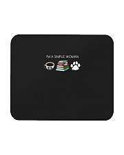 I Am A Simple Woman Coffee Books Dog Lover Girl Mousepad front