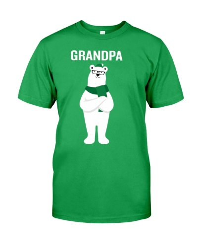 Grandpa Bear Santa Hat Scarf Christmas Pajamas Gif
