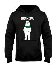 Grandpa Bear Santa Hat Scarf Christmas Pajamas Gif Hooded Sweatshirt thumbnail