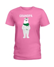 Grandpa Bear Santa Hat Scarf Christmas Pajamas Gif Ladies T-Shirt thumbnail