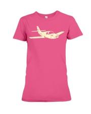 Airplane  Cool Plane Aeroplane Kids Aviation Premium Fit Ladies Tee thumbnail