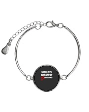 World is Greatest Husband Metallic Circle Bracelet front