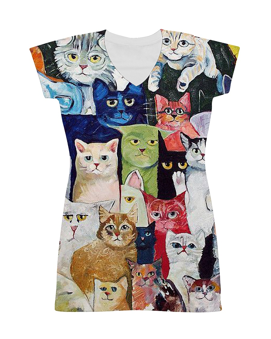 Cat Love All-over Dress