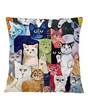 Cat Love Square Pillowcase back