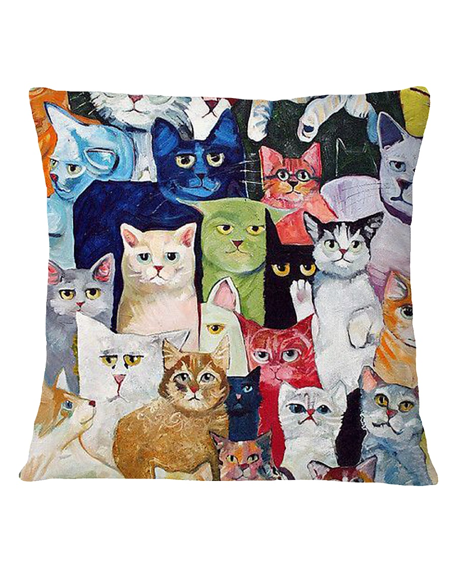 Cat Love Square Pillowcase
