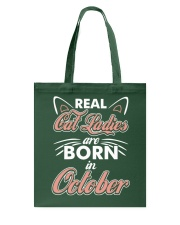 Real Cat Ladies Are Born In October Tote Bag tile