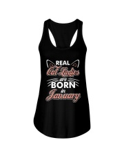 Real Cat Ladies Are Born In January Ladies Flowy Tank thumbnail